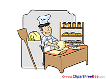 Baker Bread Clipart free Illustrations