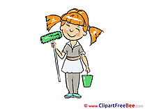 Girl Painter Clipart free Illustrations