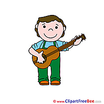 Guitarist Guitar download printable Illustrations