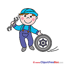 Mechanic Clipart free Illustrations