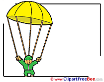 Parachutist Clipart free Illustrations