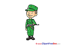 Soldier Man Cliparts printable for free