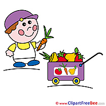 Vegetables Boy Clipart free Illustrations