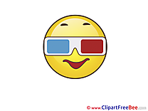 Glasses Smiles Clip Art for free