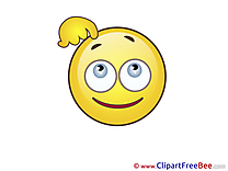 Thinking Clip Art download Smiles