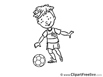 Coloring Player download Clipart Football Cliparts
