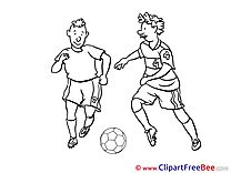 Coloring Players Clipart Football free Images