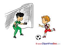 Dangerous Moment Football Illustrations for free