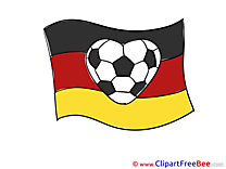 Football Germany Flag download Illustration
