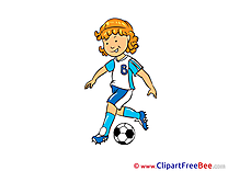 Footballer Cliparts Footbal for free