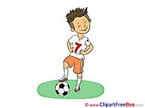 Footballer Football Illustrations for free