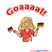 Germany Girl download Football Illustrations