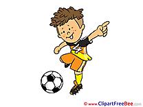 Kick Football Clip Art for free