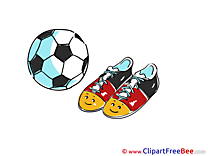 Sneakers Soccer printable Illustrations Football