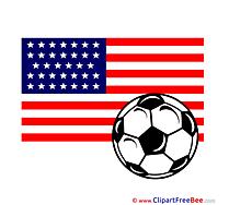 USA printable Illustrations Football