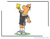 Yellow Card - Soccer Clipart Images