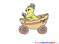 Chicken Egg Carriage Cliparts printable for free