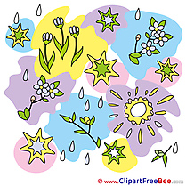 Drawing Flowers Spring printable Illustrations for free