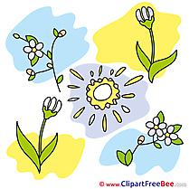 Flowers Sun Clipart free Illustrations
