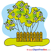 Garden Tree Cliparts printable for free