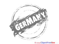 Germany Cliparts Stamp for free