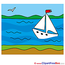 Boat in Sea Cliparts Summer for free