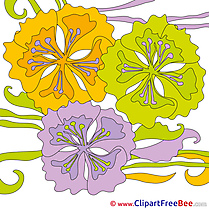 Clip Art Flowers download Summer