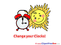 Clock Sun free Cliparts Summer