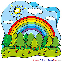 Rainbow free Cliparts Summer