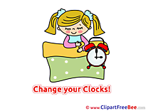 Sleeping Clock Summer free Images download