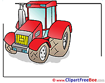 Tractor Cliparts printable for free