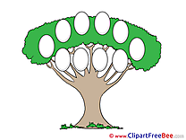 Cliparts Family Tree for free