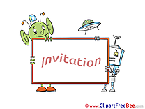 Alien Invitations download Greeting Cards