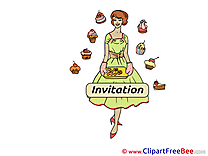 Bakery Invitations Greeting Card for free