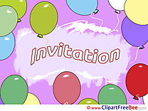 Balloons printable Invitations eCards