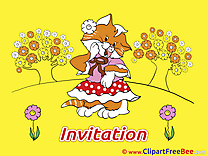 Beautiful Cat Invitations free eCards download