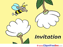 Bee download Invitations Greeting Cards