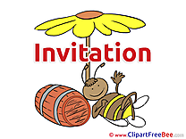 Bee Invitations free eCards download