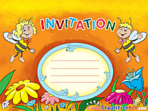 Bees Greeting Cards Invitations