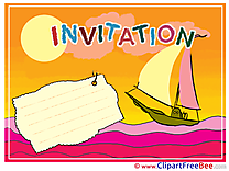 Boat Invitations Greeting Cards