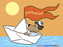 Boat Invitations Greeting Cards for free