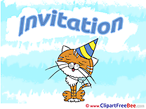 Cap Cat Invitations download Greeting Cards