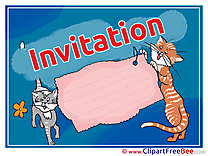 Cats free Postcards Invitations