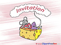 Cheese Mouse Invitations download Greeting Cards
