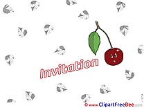 Cherry Invitations Postcards