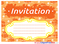 Cloud Invitations free eCards download