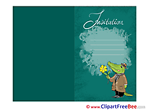 Crocodile Wishes Invitations Greeting Cards