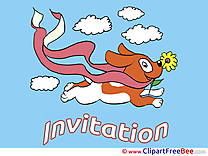 Dog Clouds Invitations Greeting Card for free