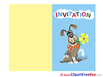 Dog Invitations Greeting Card for free