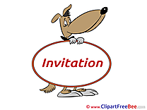 Dog Invitations Greeting Cards for free